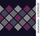 seamless knitted pattern. a... | Shutterstock .eps vector #1131898130