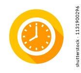 clock flat icon vector   Shutterstock .eps vector #1131900296
