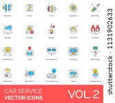 car service flat vector icons.... | Shutterstock .eps vector #1131902633