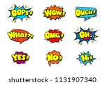 comic book sound effect speech... | Shutterstock .eps vector #1131907340