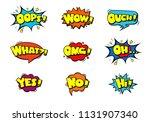 comic book sound effect speech... | Shutterstock .eps vector #1131907340