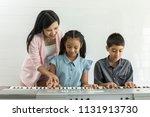 teacher instructive or... | Shutterstock . vector #1131913730