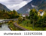houses and nature of upper... | Shutterstock . vector #1131923336