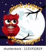 cute cartoon owl coquettish red ... | Shutterstock .eps vector #1131932819