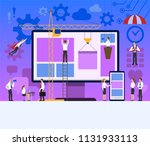 web and mobile application... | Shutterstock . vector #1131933113