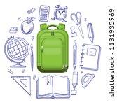 back to school concept.... | Shutterstock . vector #1131935969