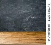 empty wooden table over... | Shutterstock . vector #1131936149