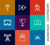 modern  simple vector icon set... | Shutterstock .eps vector #1131936344