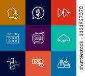modern  simple vector icon set... | Shutterstock .eps vector #1131937070
