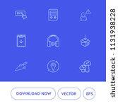 modern  simple vector icon set... | Shutterstock .eps vector #1131938228