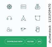 modern  simple vector icon set... | Shutterstock .eps vector #1131939470