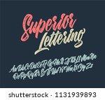 superior lettering alphabet.... | Shutterstock .eps vector #1131939893