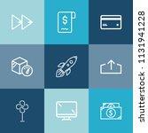 modern  simple vector icon set... | Shutterstock .eps vector #1131941228