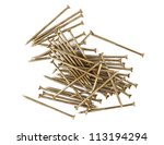 screws isolated on a white... | Shutterstock . vector #113194294