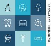 modern  simple vector icon set...   Shutterstock .eps vector #1131943139