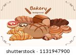set bread products  pastries... | Shutterstock .eps vector #1131947900