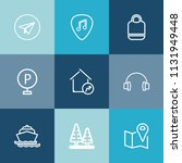 modern  simple vector icon set... | Shutterstock .eps vector #1131949448
