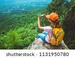 women asians travel relax in... | Shutterstock . vector #1131950780