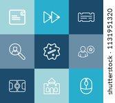 modern  simple vector icon set... | Shutterstock .eps vector #1131951320