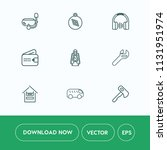 modern  simple vector icon set... | Shutterstock .eps vector #1131951974