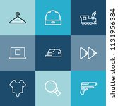 modern  simple vector icon set... | Shutterstock .eps vector #1131956384