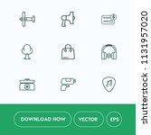 modern  simple vector icon set... | Shutterstock .eps vector #1131957020