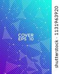 trendy report template. global... | Shutterstock .eps vector #1131963920