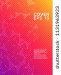 trendy cover page layout.... | Shutterstock .eps vector #1131963923