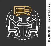 friendship chalk concept icon.... | Shutterstock .eps vector #1131966716