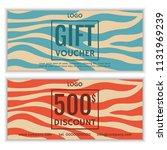 gift voucher template. vector... | Shutterstock .eps vector #1131969239