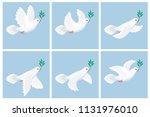 vector illustration of flying... | Shutterstock .eps vector #1131976010