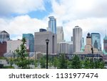 view of the skyline in downtown ... | Shutterstock . vector #1131977474