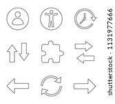 ui ux linear icons set. userpic ...