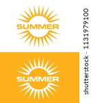 summer sun icon set | Shutterstock .eps vector #1131979100