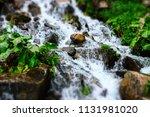 close up streams of water...