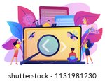 people catching bugs on the... | Shutterstock .eps vector #1131981230