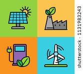 set of alternative energy icons.... | Shutterstock .eps vector #1131983243