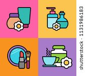 set of cosmetics icons. vector... | Shutterstock .eps vector #1131986183