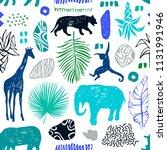 tropical seamless pattern....   Shutterstock .eps vector #1131991946