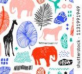 tropical seamless pattern....   Shutterstock .eps vector #1131991949