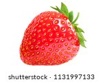 strawberry with green leafs... | Shutterstock . vector #1131997133