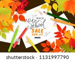 back to school sale banner... | Shutterstock .eps vector #1131997790