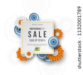 indian independence day sale... | Shutterstock .eps vector #1132001789