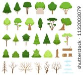 set of different stylish forest ... | Shutterstock .eps vector #1132003079