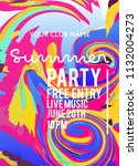party poster for night club.... | Shutterstock .eps vector #1132004273
