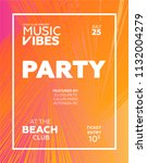 night party banner template for ... | Shutterstock .eps vector #1132004279
