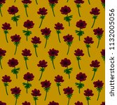 floral seamless pattern. red... | Shutterstock . vector #1132005056