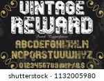 font alphabet script typeface... | Shutterstock .eps vector #1132005980