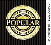 popular gold emblem | Shutterstock .eps vector #1132006910