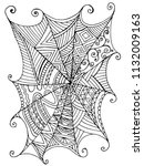 decorative beautiful spider web ... | Shutterstock .eps vector #1132009163